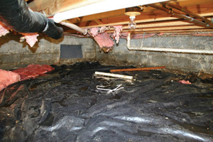 Crawl Space Repair Before in Wilmington