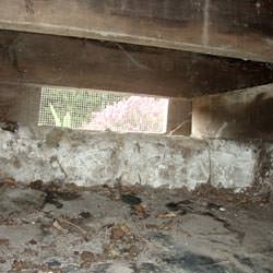 A crawl space vent in Queenstown that's bringing moisture into the home