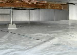 A sealed, insulated, and structurally repaired Middletown crawl space